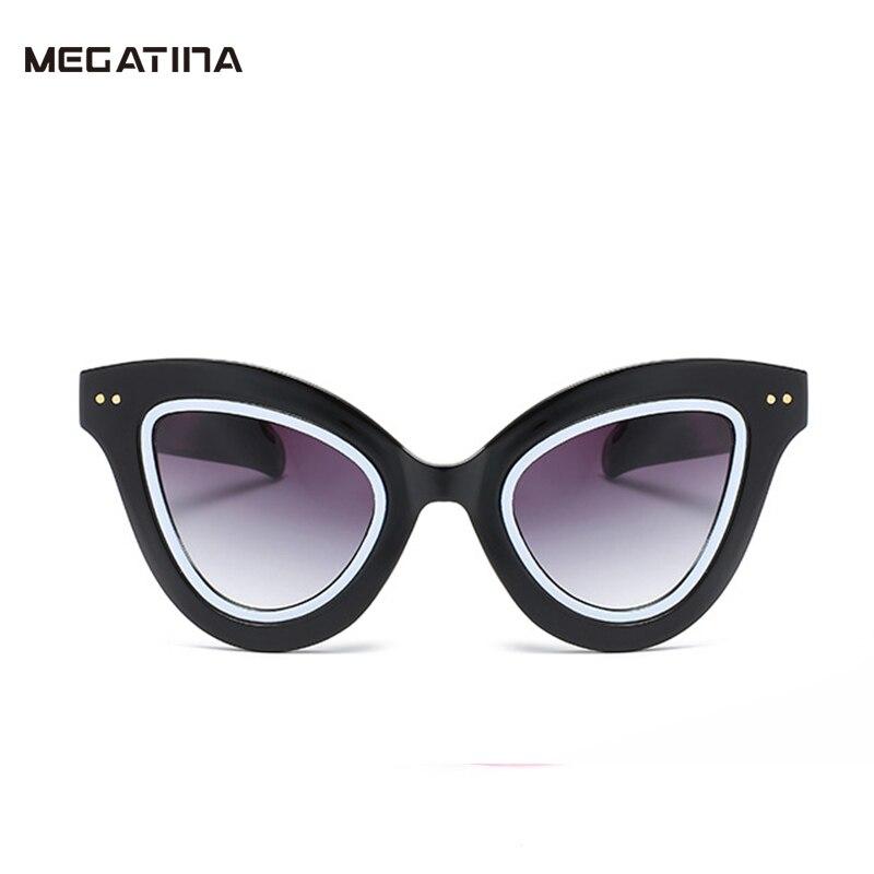 Megatina Vintage Luxury Cat Glasses For Women Unique Brand Goggles Sun Glasses Ladies Cateye UV400 font