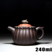 Authentic Yixing Zisha Masters Handmade Teapot Purple Clay Ore High Fengju Pot Crafts Wholesale And Retail