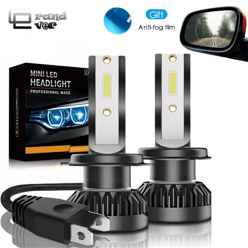 2 PCS Auto scheinwerfer Mini Lampe H7 Led-lampen H1 LED H7 H8 H11 Scheinwerfer Kit 9005 HB3 9006 HB4 für Auto 12 V LED Lampe 60 W 8000LM
