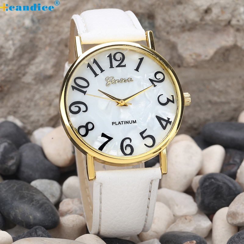 Drop shipping New Women's Fashion Geneva Roman Faux Leather Analog Quartz Wrist Watch Montre Femme Relogio Feminino top sale montre femme quartz watch women s fashion geneva roman numerals faux leather analog wrist watch relogios femininos yo1