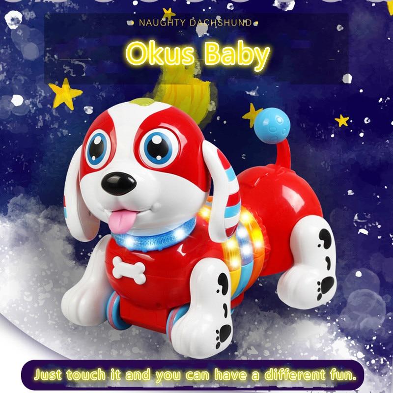 2019 nouveau chien intelligent saucisse chanter danse marche Robot chien électronique Pet éducatif enfants jouet