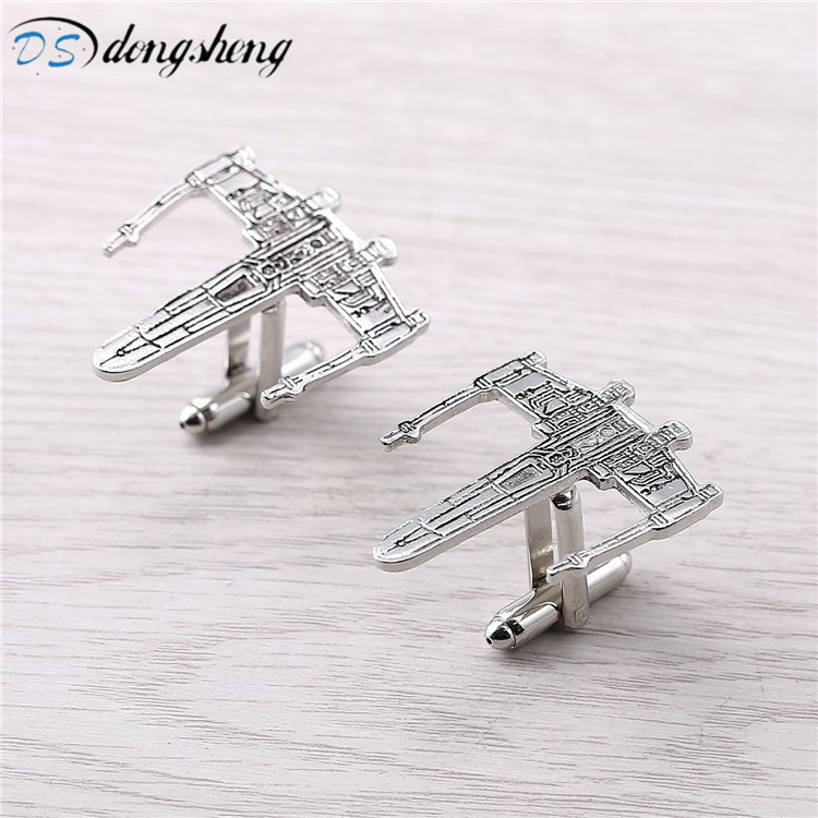 dongsheng Movie Star Wars Cufflinks Airplane Model Cuff Link For Men's Shirt Party Novelty Design Alloy Cuff Buttons-40 image
