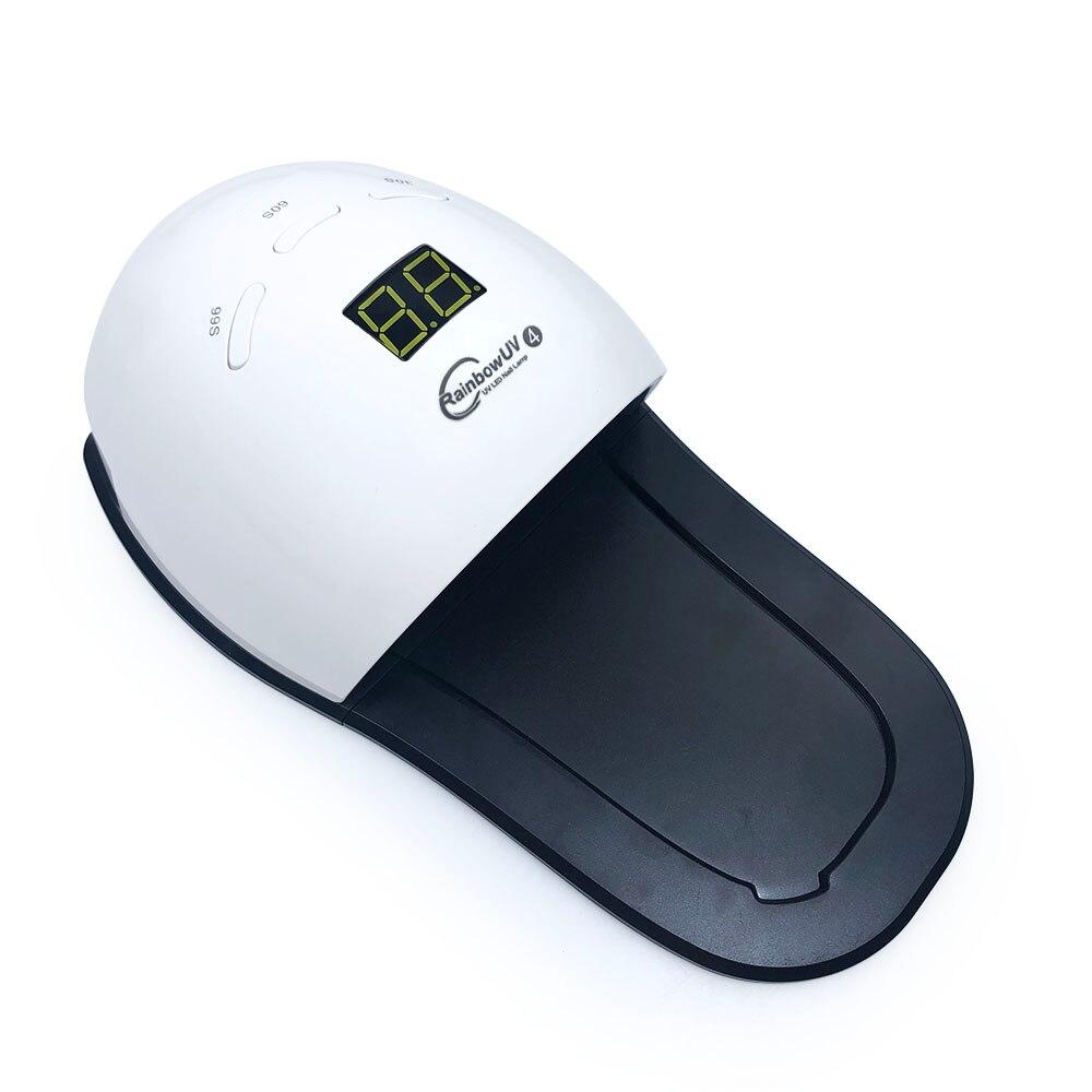 48W LED UV Nail Lamp Rainbow4 Nail Dryer Automatic Sensor Professional Pedicure Manicure Dryer Light Machine LCD Display Screen лампа для педикюра