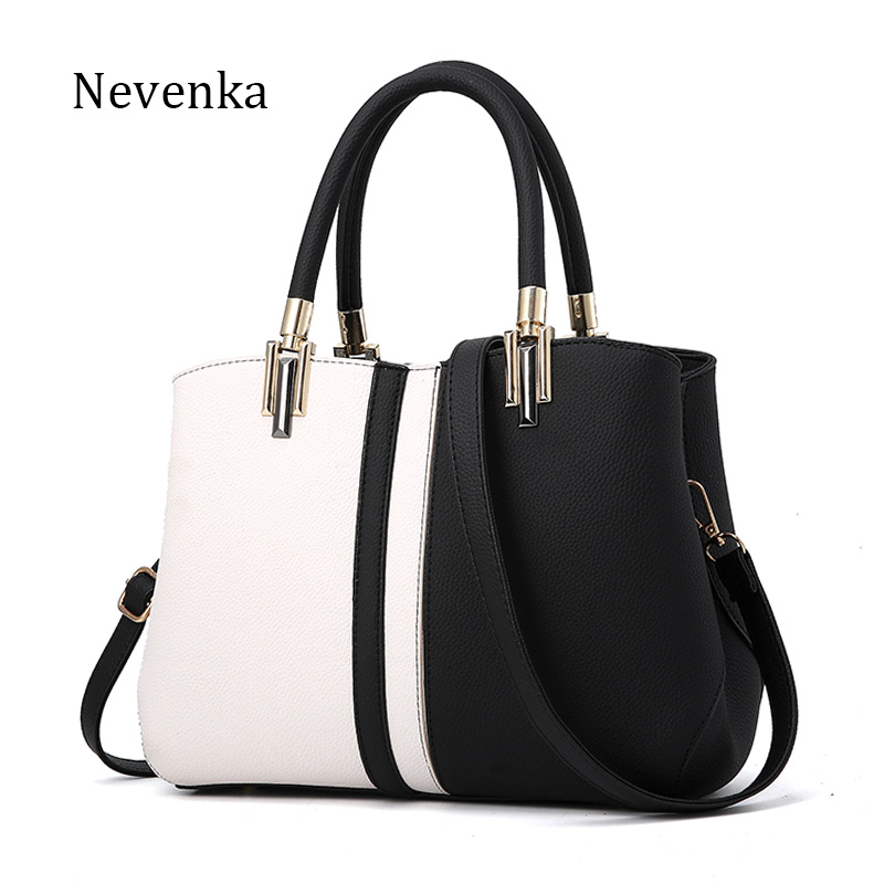 Nevenka Women Handbag PU Leather Bag Brand Tote Female Style Evening Bags Zipper High Quality Bag Lady Original Design Bags Sac fashionable women s tote bag with cover and pu leather design