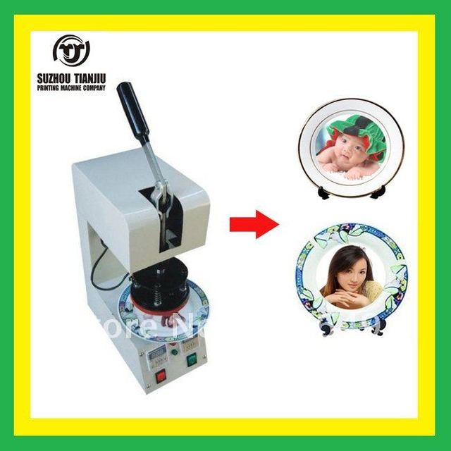 TJ plates  heat  transfer  machine,plates heat press machine,DIY plates 350W 110V/220V