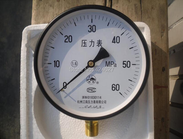 Nozzle checker 60 mpa pressure gauge 15 cm in diameter Interface 20-1.5 validator pressure gauge