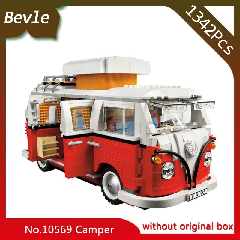 Bevle Store Bela 10569 1342pcs Ninja Series T1 camping car camping car Building Blocks Set Bricks For Children Toys LEPIN 10220 edge clothing 10569