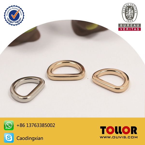 High Quality Pressure Casting Gold Hardware D Rings For Handbag Accessories Silver Stainless Metal D-Ring For Leather Bag