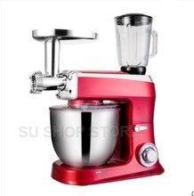 Mélangeur de cuisine à support bol, mélangeur pour aliments, mélangeur pour pâte, milk shake et gâteaux, 7.5 W, 1500