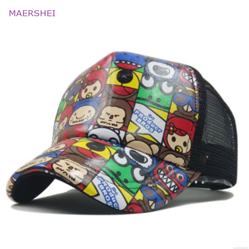 MAERSHEI Cartoon Baseballcap Mannen en vrouwen Trucks sanpback hat - Kledingaccessoires