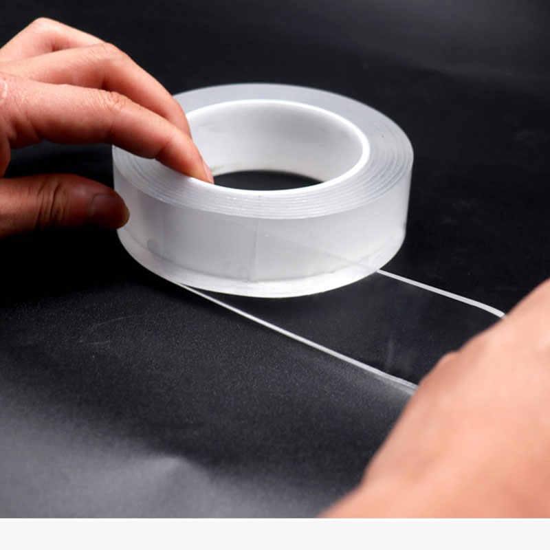 نانو traceless ماجيك مزدوجة الجانبين لاصق ملصقات قوية رقيقة شفافة مقاوم للماء فيلم السيارات ملصقات الحائط الثابتة
