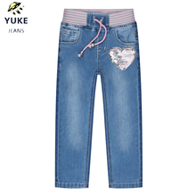 YUKE The New Girl baby Jeans Childrens Leisure Loose Comfortable Elasticity Embroidered Kids 1-5 Age I34326