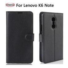 """YINGHUI для lenovo K6 Note K6 Plus чехол с откидной подставкой Чехол для телефона из искусственной кожи для lenovo K6 Note чехол Capa Coque Funda 5,5"""""""