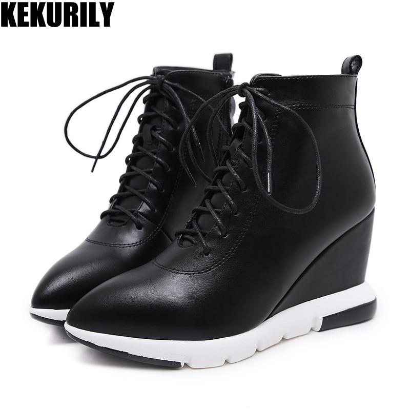 8a336c8464 Zapatos-de-mujer-zapatos -de-cu-a-botas-de-tobillo-botas-de-cremallera-de-invierno-de.jpg