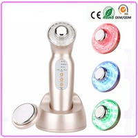 Free Shipping Rechargeable HandHeld High Frequency 3 Level Intensity Led Light Photon Ion Ultrasonic Mini Beauty