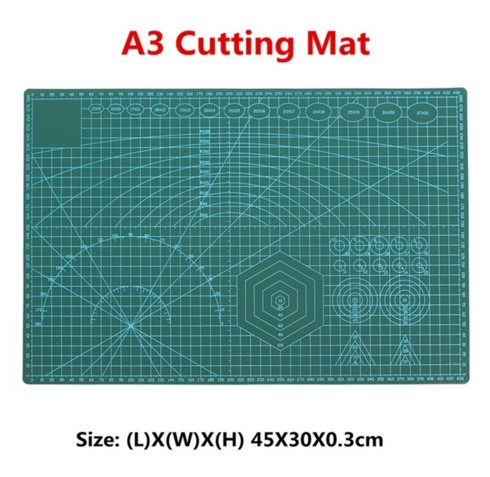 1PC PVC Cutting Mat A3 Durable Self-healing Cut Pad Patchwork Tools Handmade Diy Accessory Cutting Plate Dark Green 30*45cm top quality pvc rectangle self healing cutting mat tool non slip craft quilting printed professional double sided cutting mat