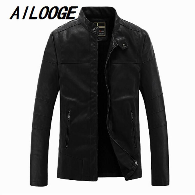 Winter Leather Jacket Men Bomber Motercycle Biker Jacket Jaqueta De Couro Masculina Faux Fur Liner Artificial PU Leather Jacket