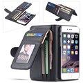 Ocio doblado cartera case para 5c apple iphone 6 6 s plus 5 5S sí 4S para samsung galaxy s7 s5 s6 edge plus nota 4 5 cubierta de cuero
