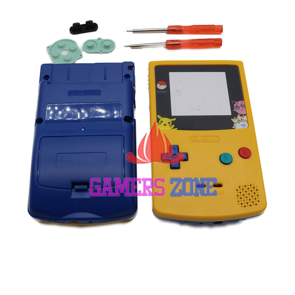 Game boy color kaufen - F R Pikachu Begrenzte Editiin Obere Gelbe Unten Blau Geh Use Shell F R Nintendo Gameboy Farbe Gbc Pokemon