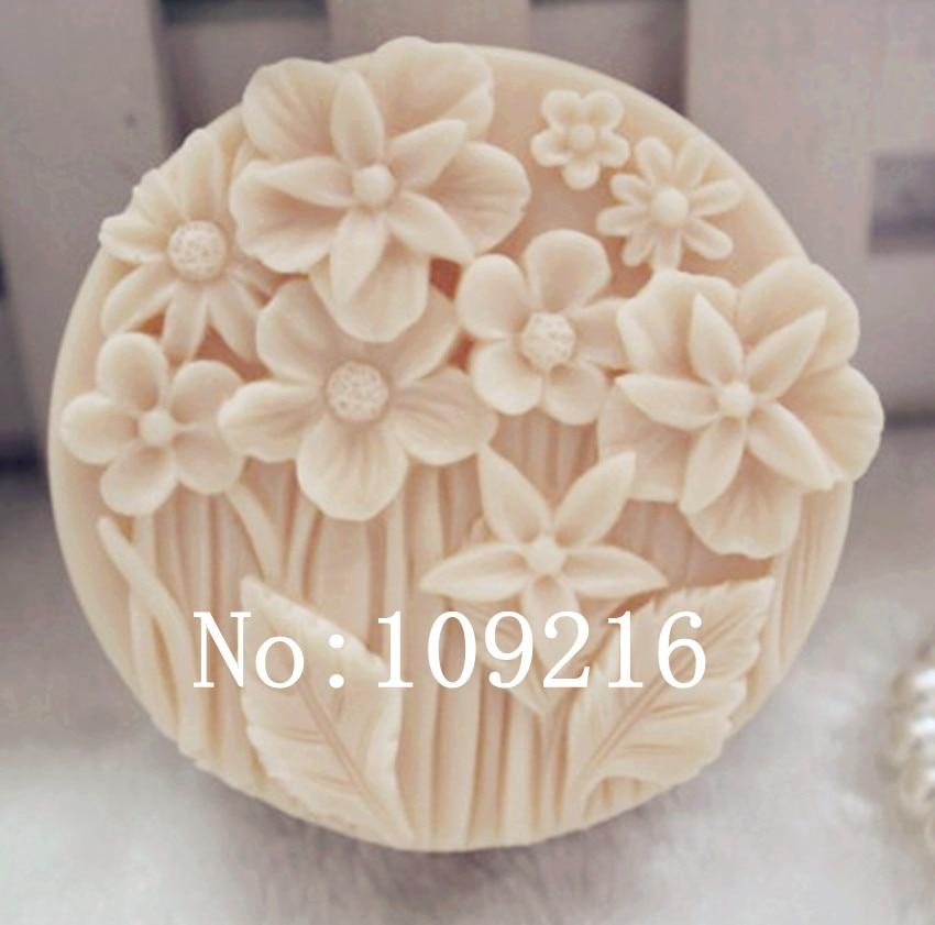 մեծածախ !! 1 հատ հատ Փոքր ծաղիկներ (zx68) Սիլիկոնային ձեռքի պատրաստված օճառ բորբոս DIY արհեստ
