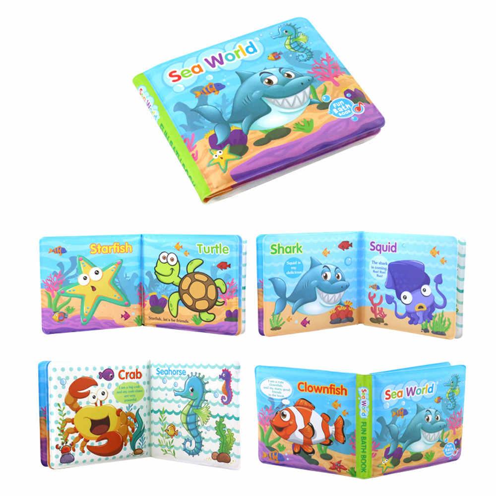 Книги для ванной Детские обучающие игрушки развития интеллекта EVA плавающие познавательная книга для нового прибытия