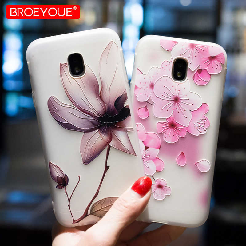 Case For Samsung J5 J7 2017 2016 A3 A5 A7 2017 S7 S8 Edge 3D Relief TPU Flowers Animal Phone Back Cover For Samsung Galaxy S7 S8