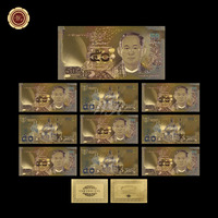 WR Decoration for Home 50 Baht Colorful Gold Banknote Collectible Thailand Bhumibol Adulyadej Memory Souvenir Gifts for Gifts