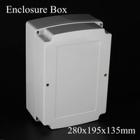 1 Piece Lot 280x195x135mm Grey ABS Plastic IP65 Waterproof Enclosure PVC Junction Box Electronic Project
