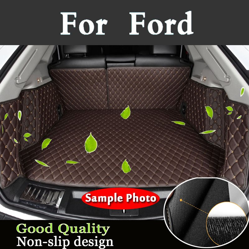 New Design Carpet Pad Car Trunk Mats Waterproof Boot Carpets Cargo Liner For Ford Turui Edge Explorer F-150 Focus Mustang C-Max