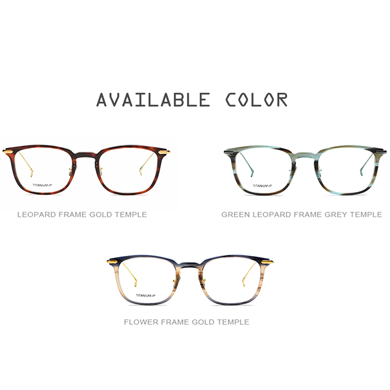 3143bcd9920 B Titanium Glasses Frame Men Ultralight Acetate Women High Quality  Prescription Transparent Spectacles Eyeglasses Korean Eyewear-in Eyewear  Frames from ...
