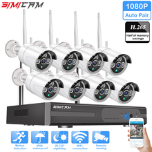 hot deal buy 1080p wireless cctv system h.265 2mp 8ch hd wi-fi nvr kit outdoor ir night vision ip wifi camera security system surveillance