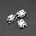 10 unids 5pin micro usb tipo b conector hembra para el teléfono móvil micro usb jack conector 5 pin toma de carga