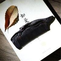 Профессиональный уход за здоровьем гребень Антистатический массаж сандалового дерева гребень Рыба ручной работы щетка для волос свадьба/п