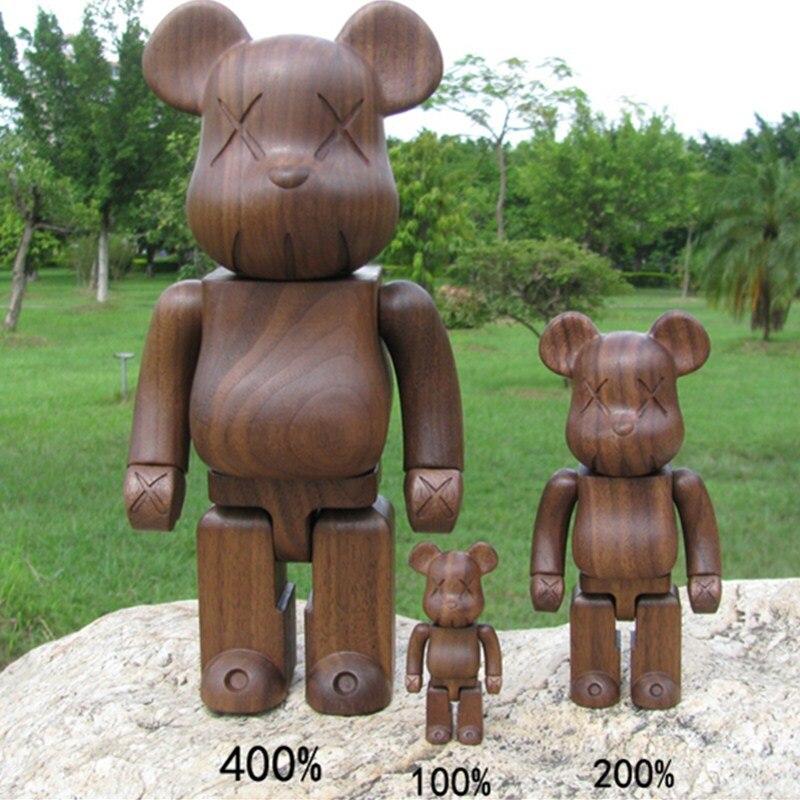 Original Fake Beech Black Walnut 400% Be@rBrick Gloomy Bear Gary Action Figure BFF Baseman Toby Bearbrick Model Toy L2294 400% bearbrick bear brick ted2 bear model art figure as a gift for boyfriends girlfriends and students