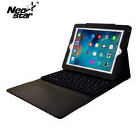 Waterproof Bluetooth Keyboard Leather Case For Ipad 2 3 4 Silicone Keyboard PU Leather Flip Cover