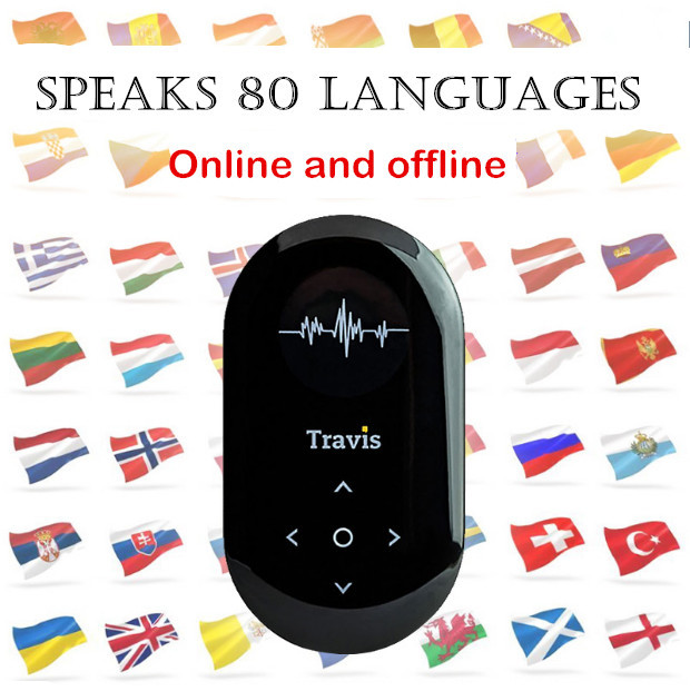 Two-Way 80 languages smart voice translator Real-time translation online offline translation Bluetooth WIFI 3G