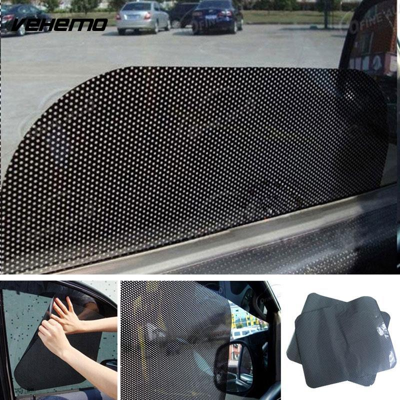2pcs car curtain car side rear window sun shade static cling solar protection covers visor. Black Bedroom Furniture Sets. Home Design Ideas