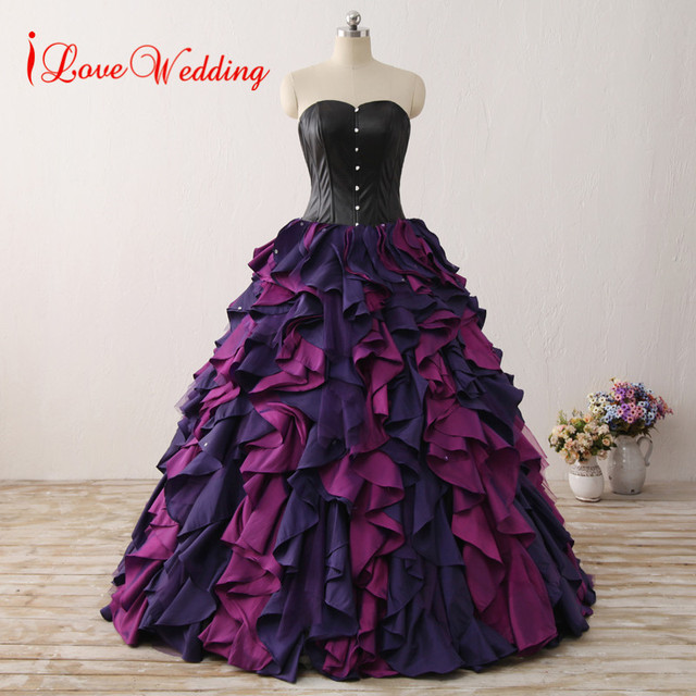 Aliexpress.com : Buy iLoveWedding Custom Made Ball Gown Gothic ...