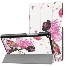 Impreso caso de la cubierta para 2017 Huawei MediaPad T3 8.0 KOB-L09 KOB-W09 cubierta protectora de la piel para Honor Juego Pad 2 8.0 tablet + regalo