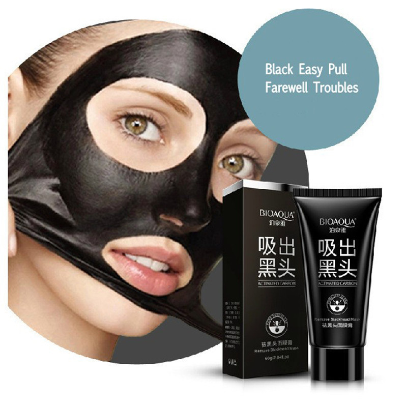 BIOAQUA Skin Care Black mud Facial face mask Deep Cleansing purifying Remove blackhead facial mask strawberry nose Acne remover 13