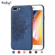 For iPhone 7 8 Plus Shockproof Soft TPU Cloth Texture Hard Phone Case Cover Apple Fundas