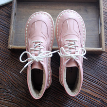 HUIFENGAZURRCS-Genuine Leather shoes,Pure handmade bottomed casual shoes,The retro art mori girl shoes,retro boots womens shoes