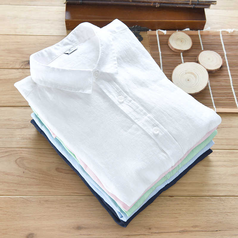 2017 New arrival linen shirts men solid green long shirt mens 100% flax casual men shirts brand soft shirts male clothes chemise