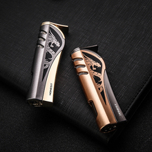 High Grade Creative Electronic Torch Turbo Lighter Metal gas  Cigar Cigarette Lighters smoking accessories