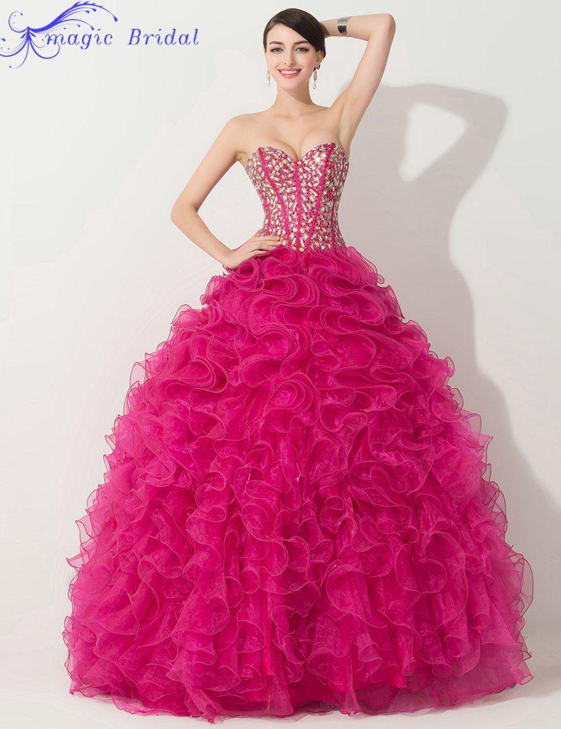Vestidos De Quinceaneras Hot Pink Quinceanera Dresses Masquerade ...