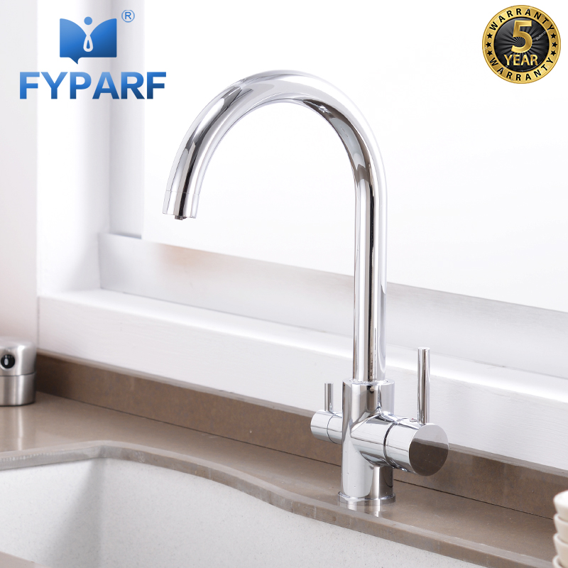 Us 54 77 45 Off Fyparf Filter Kitchen Faucet Mixer Tap Drinking Water Faucet 360 Rotation Kitchen Sink Mixer With Purification Features Torneira In