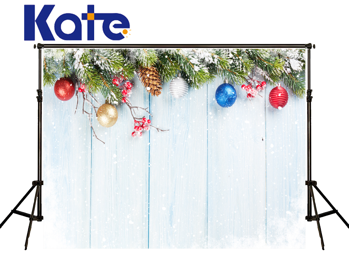 Kate Background Photography Christmas Colour Ball Snow Photography Backdrop  Wood Texture Floor Background For Photo Shoot 10ft 20ft romantic wedding backdrop f 894 fabric background idea wood floor digital photography backdrop for picture taking