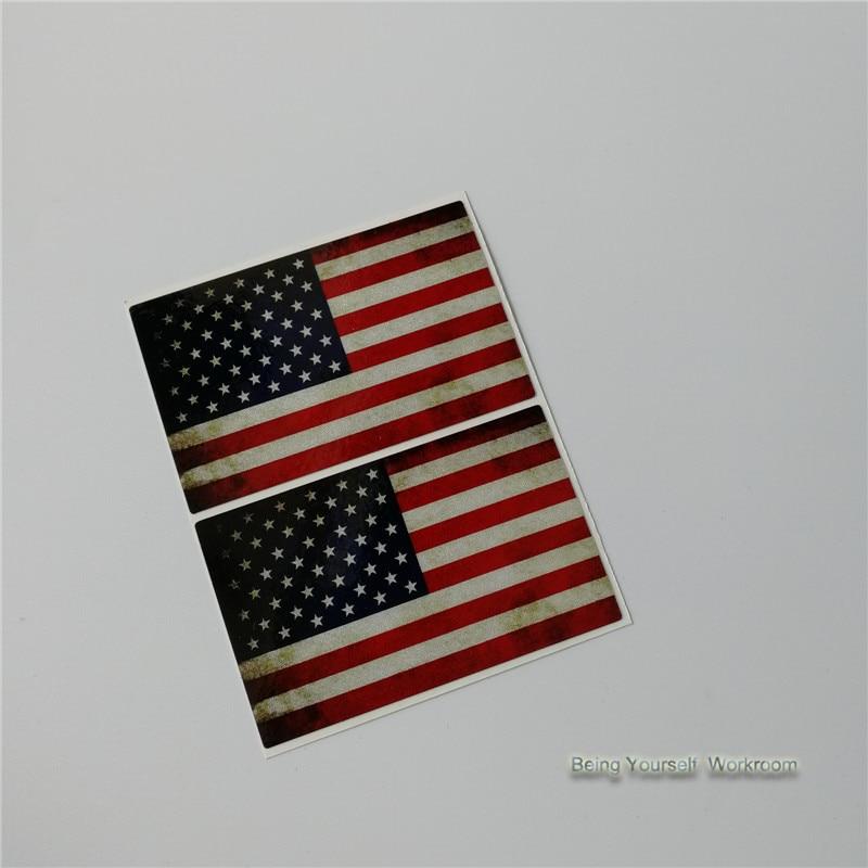 Us 29 17 Off2 Stücke Reflektierende Vinyl Usa Flagge Aufkleber Auto Styling Amerikanische Flagge Aufkleber Usa Aufkleber Motocrclye Auto Decals