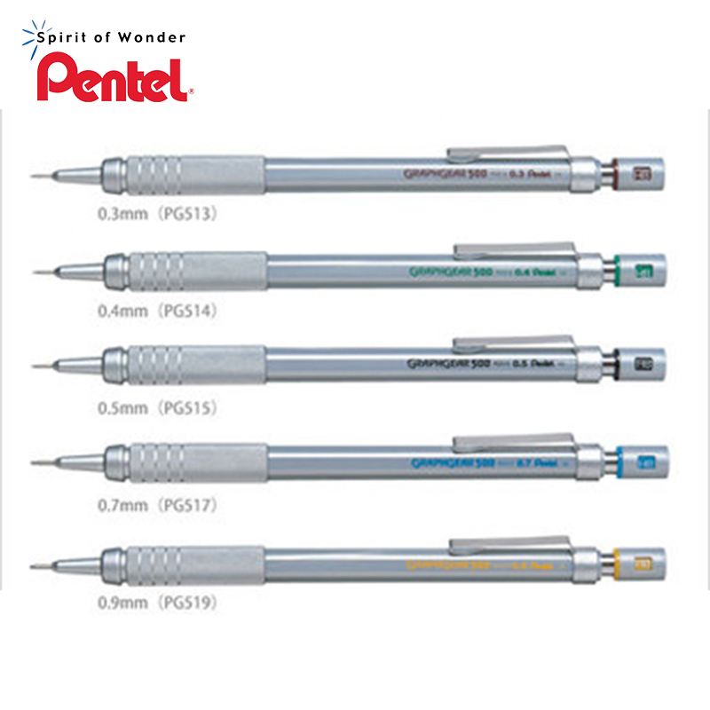 Pentel PG515 PG513 PG517 PG519 Metallic Scrub Drawing Mechanical Pencil 0.3 mm 0.4 mm 0.5 mm 0.7 mm 0.9 mm сорочка ночная etam etam et006ewehpu9
