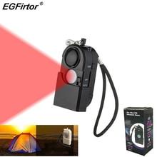 2Pcs Security Alarm Travel Infrare PIR Motion Sensor Detector Camping Protection Self Defense Travel Anti theft Personal Alarm
